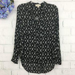 Cloth & Stone Kasuri Hipster Button Up Hi-Lo Shirt